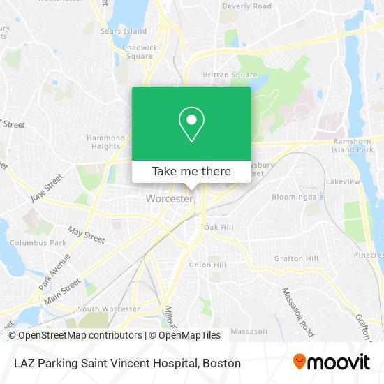 Mapa de LAZ Parking Saint Vincent Hospital