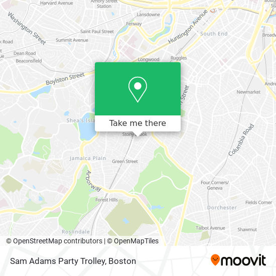 Mapa de Sam Adams Party Trolley