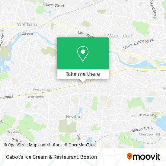 Mapa de Cabot's Ice Cream & Restaurant