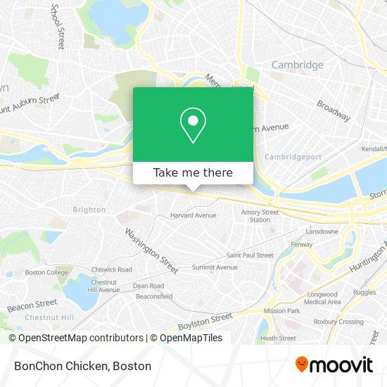 Mapa de BonChon Chicken