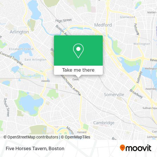 Mapa de Five Horses Tavern