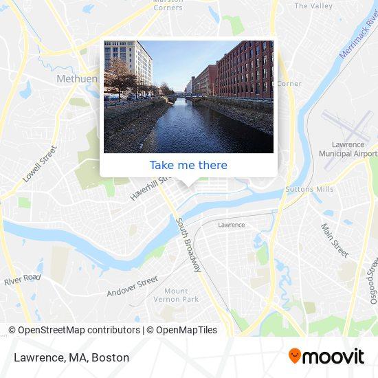 Mapa de Lawrence, MA