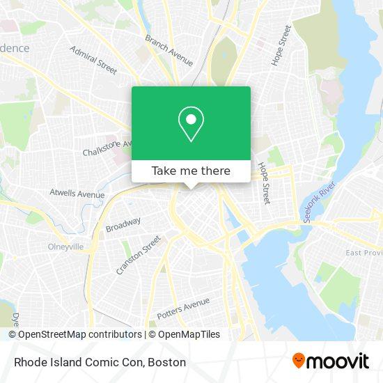 Mapa de Rhode Island Comic Con