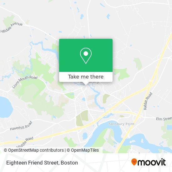 Mapa de Eighteen Friend Street