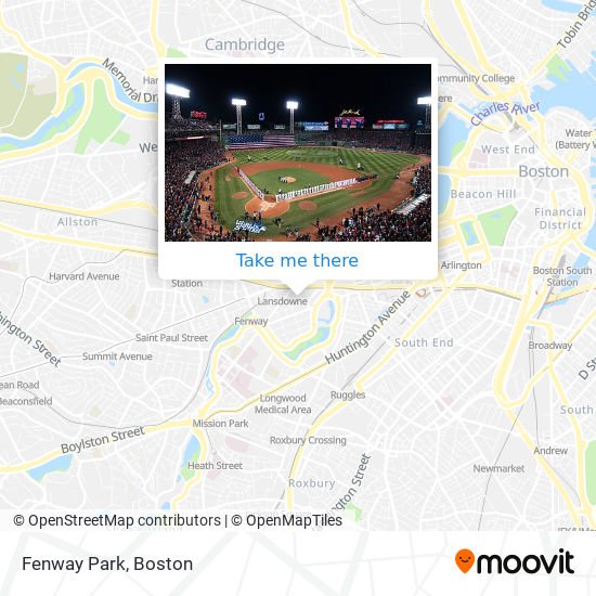 Mapa de Fenway Park