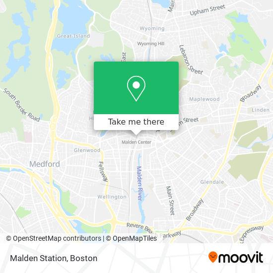 Mapa de Malden Station