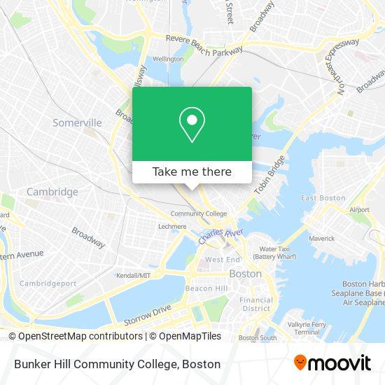 Mapa de Bunker Hill Community College