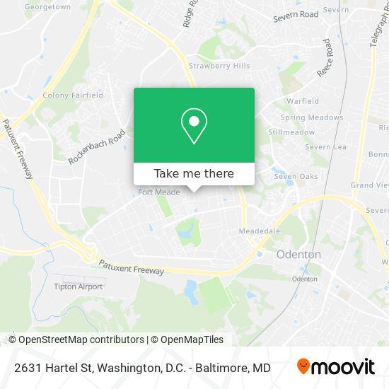 Mapa de 2631 Hartel St