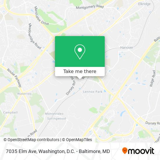 Mapa de 7035 Elm Ave