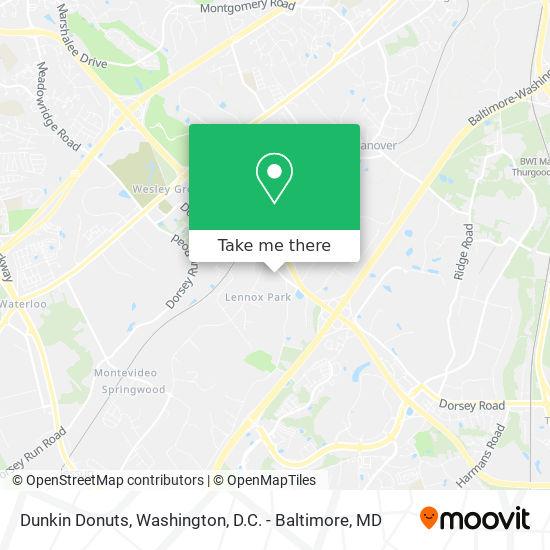 Mapa de Dunkin Donuts