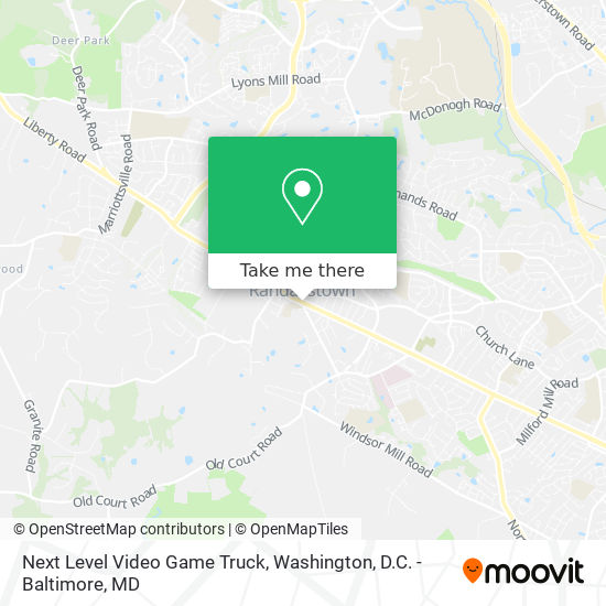 Mapa de Next Level Video Game Truck