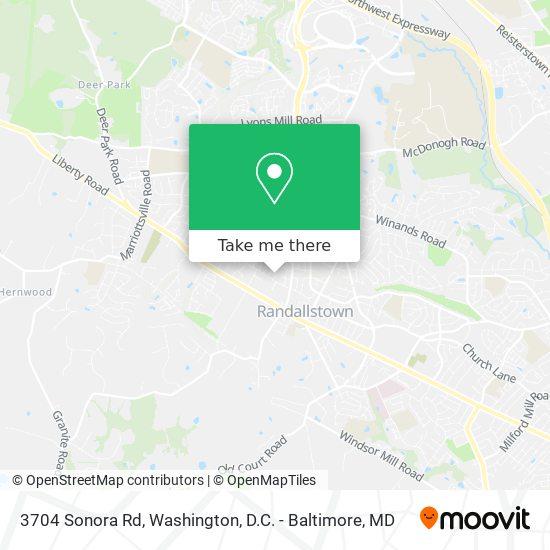 Mapa de 3704 Sonora Rd