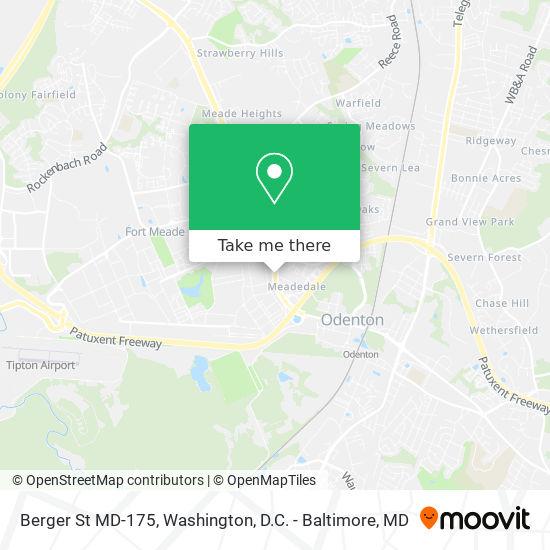 Mapa de Berger St MD-175