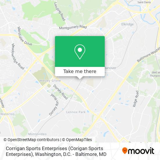 Mapa de Corrigan Sports Enterprises (Corigan Sports Enterprises)