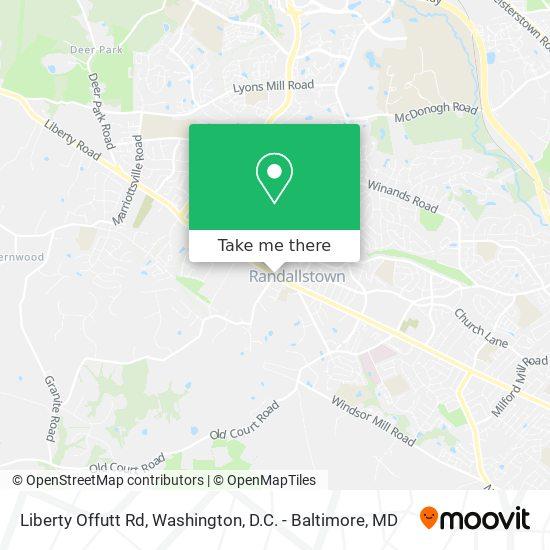 Mapa de Liberty Offutt Rd