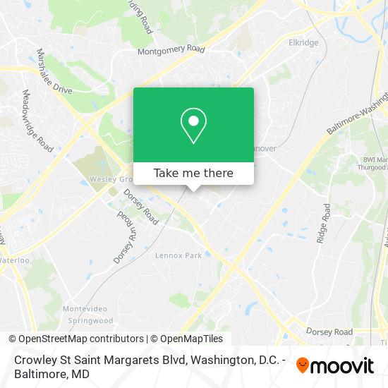 Mapa de Crowley St Saint Margarets Blvd