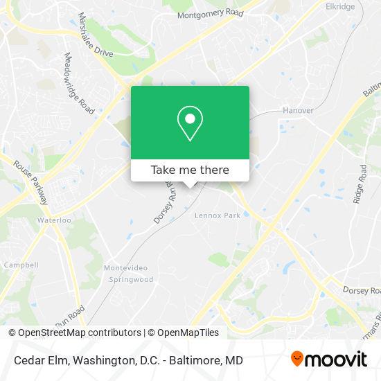 Mapa de Cedar Elm