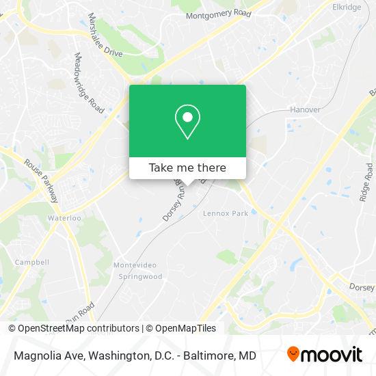 Mapa de Magnolia Ave