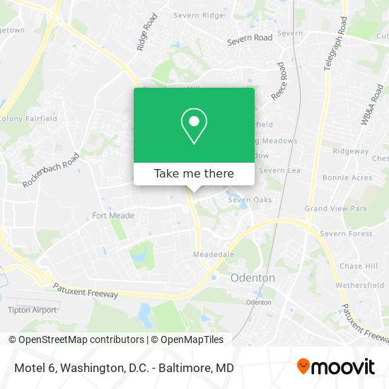 Mapa de Motel 6