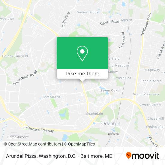 Mapa de Arundel Pizza
