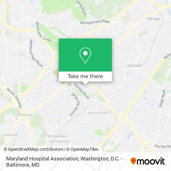 Mapa de Maryland Hospital Association