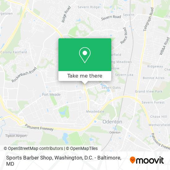 Mapa de Sports Barber Shop