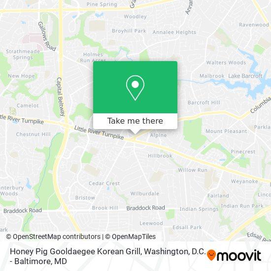 Mapa de Honey Pig Gooldaegee Korean Grill