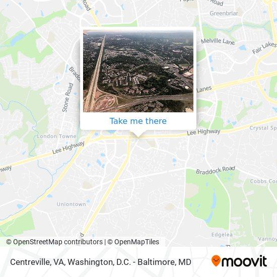 Mapa de Centreville, VA