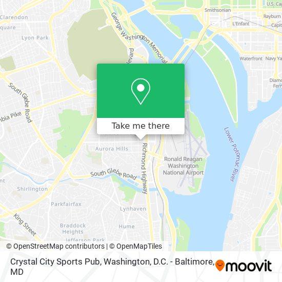 Mapa de Crystal City Sports Pub