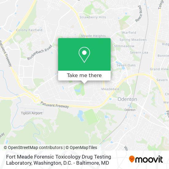 Mapa de Fort Meade Forensic Toxicology Drug Testing Laboratory