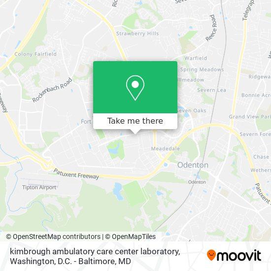 Mapa de kimbrough ambulatory care center laboratory