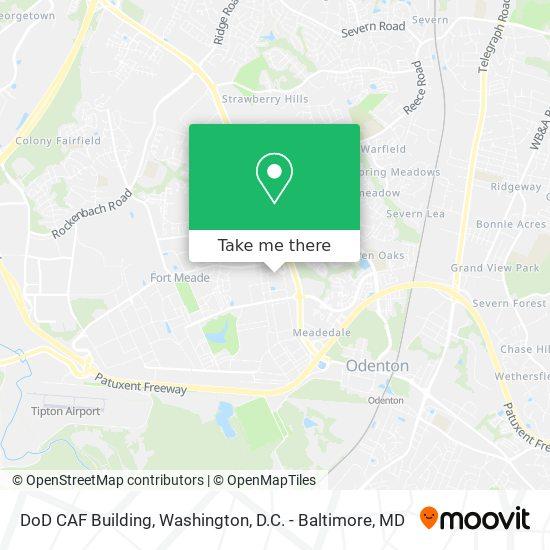 Mapa de DoD CAF Building