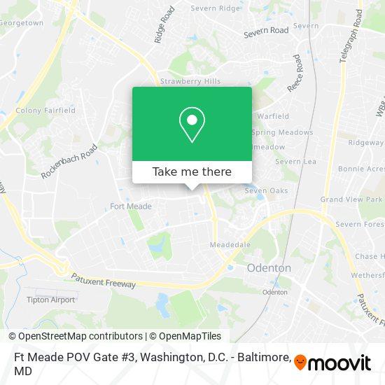 Mapa de Ft Meade POV Gate #3