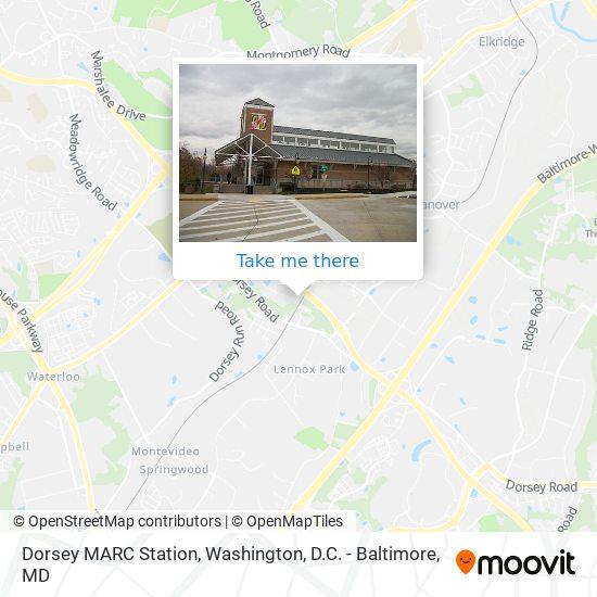 Mapa de Dorsey MARC Station