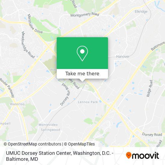 Mapa de UMUC Dorsey Station Center