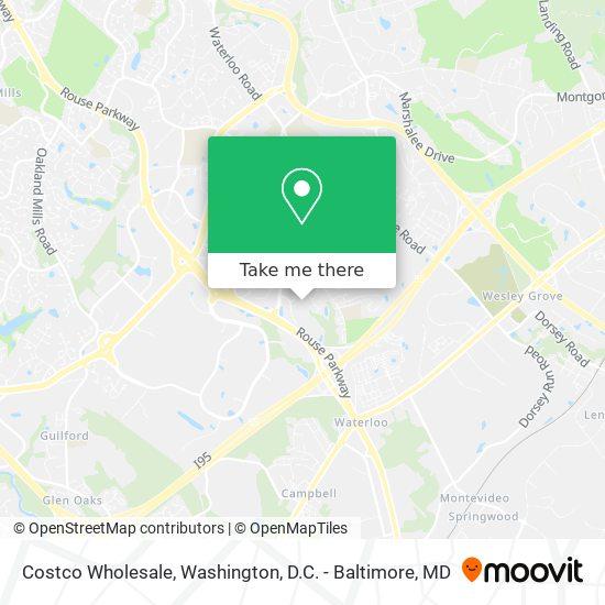 Mapa de Costco Wholesale