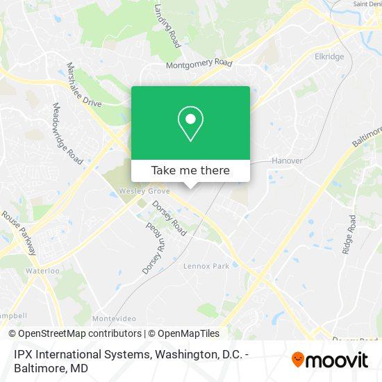 Mapa de IPX International Systems