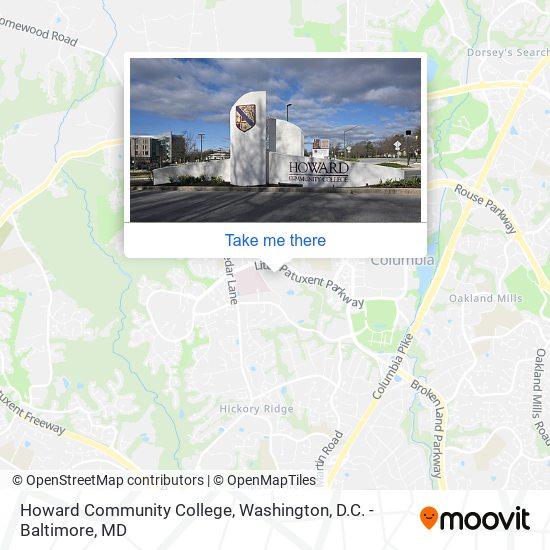 Mapa de Howard Community College