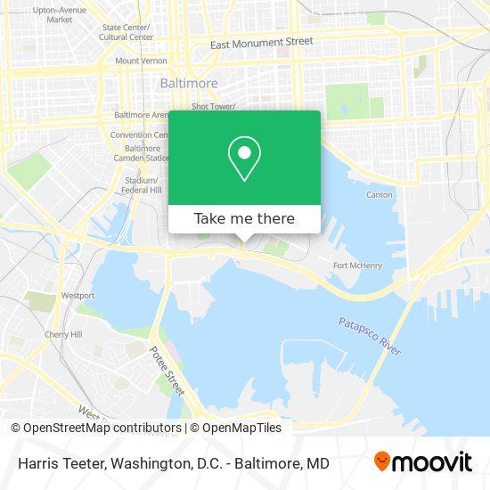 Mapa de Harris Teeter