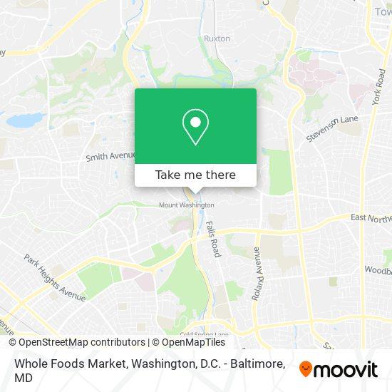 Mapa de Whole Foods Market