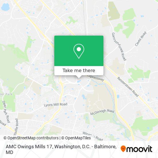 Mapa de AMC Owings Mills 17