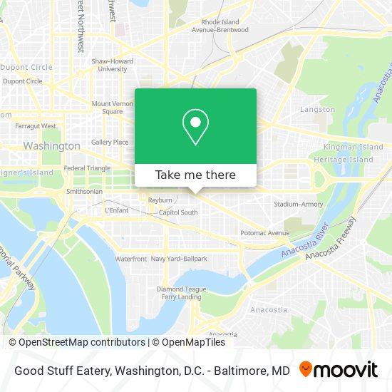 Mapa de Good Stuff Eatery