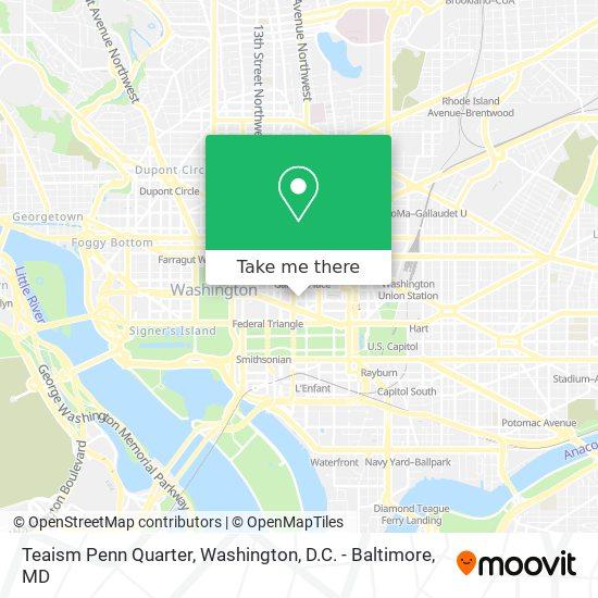 Mapa de Teaism Penn Quarter