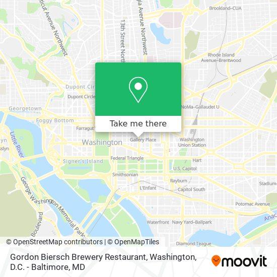Mapa de Gordon Biersch Brewery Restaurant