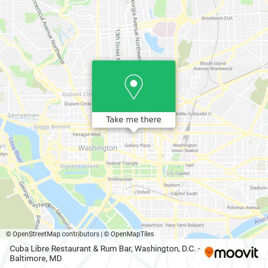 Mapa de Cuba Libre Restaurant & Rum Bar