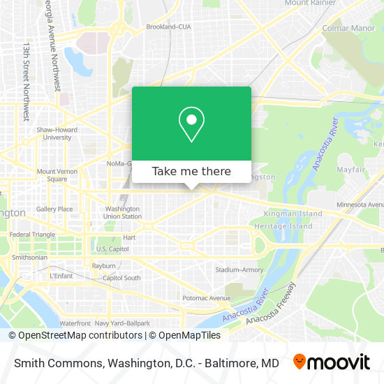 Mapa de Smith Commons