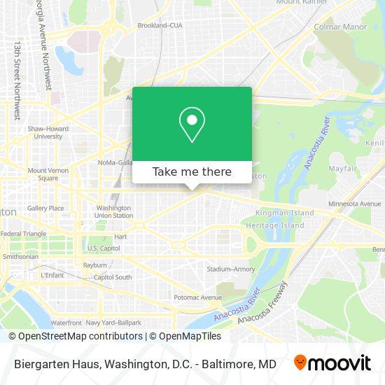 Mapa de Biergarten Haus