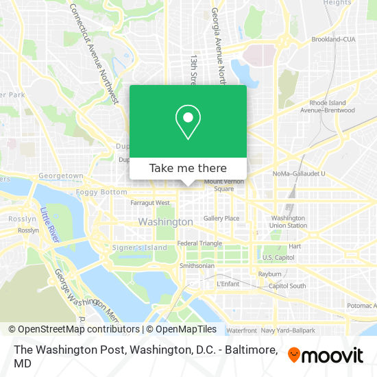 Mapa de The Washington Post