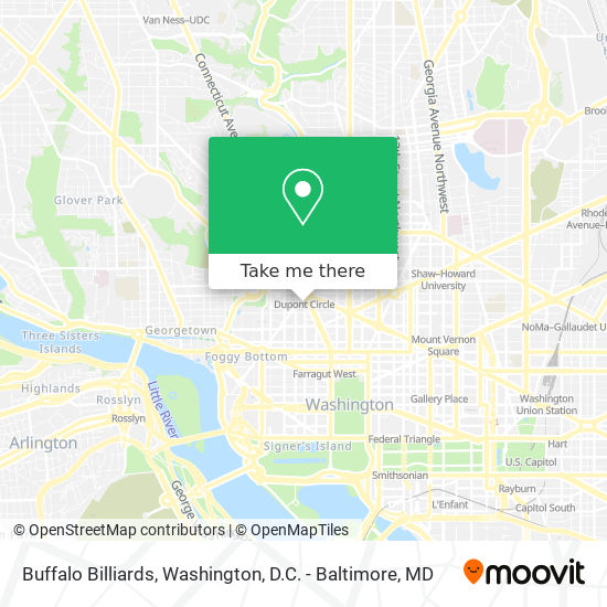 Mapa de Buffalo Billiards
