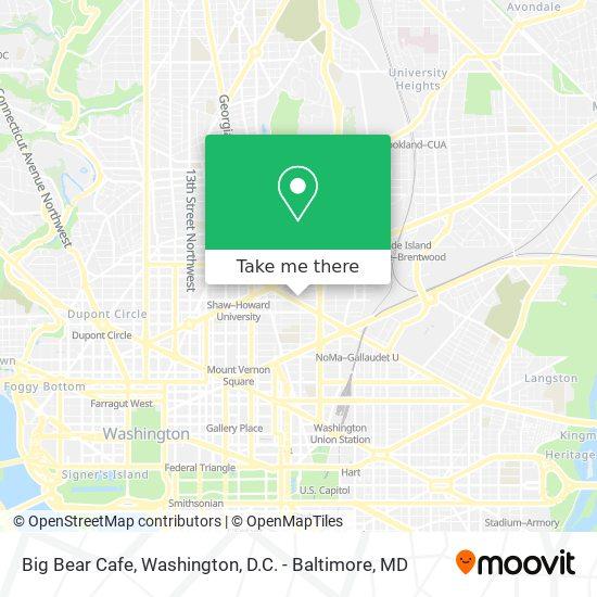 Mapa de Big Bear Cafe